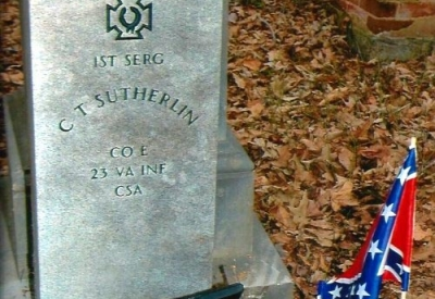 1st Sergeant Christopher T. Sutherlin <span>Company E, 23 VA Infantry CSA</span>