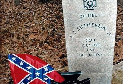 2d Lieutentant Nathaniel S. Sutherlin <span>Company F, 9 LA Infantry CSA</span>